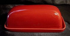 NWOT THRESHOLD BUTTER DISH - Camden Red Stoneware with Plate and Cover #Threshold $16.99