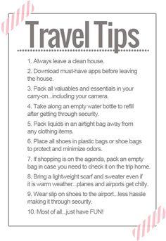 10 TRAVEL TIP COMMANDMENTS