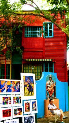 La Boca en Buenos Aires, Argentina