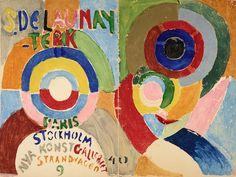 """Sonia Delaunay, """"Couverture du catalogue de l'exposition de Stockholm, Autoportrait"""" (1916) (all images courtesy Musée d'art moderne)"""
