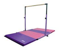 Purple Pink Gymnastics Bar / Mat Combo  Adjustable Gymnastics