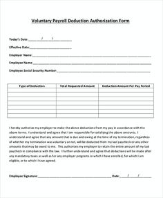 Sample Payroll For Voluntary Deduction , What To Know About Payroll Invoice  Template , If You