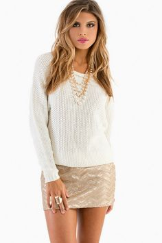Plaits of Sequins Skirt - nye <3 the sweater!