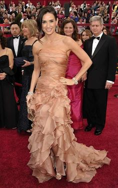 For the 2010 Oscars Demi Moore Wraps up the Red Carpet #Fashion #Oscars