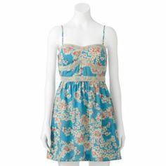 Trixxi Floral Crochet Dress - Juniors