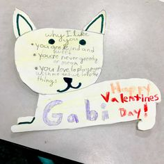 Student's drawing of a Valentine's Day card for her best friend.