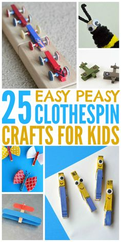 These easy clothespin crafts are the perfect kids activities to try with your little ones.