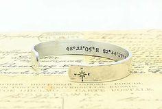 Wish Cuff latitude longitude bracelet