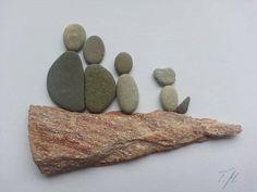 1000 images about tamikra kunst mit stein kieselsteinbilder pebbles art on pinterest products - Steinbilder auf leinwand ...
