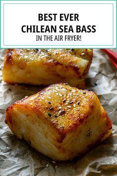 Ever wanted to learn how to cook Chilean sea bass? Now's your chance with this incredibly tasty and simple Air Fryer Chilean Sea Bass recipe that is bound to impress! Lobster Recipes, Meat Recipes, Seafood Recipes, Vegetarian Recipes, Dinner Recipes, Cooking Recipes, Kitchen Recipes, Air Fryer Tilapia Recipe, Air Fryer Fish Recipes