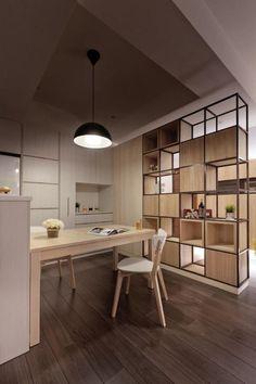 Pour réussir l'organisation de l'espace chez vous voyez nos belles idées en photos avec des cloisons, des meubles et des étagères séparation de pièce qu'on a piqué spécialement pour vous!