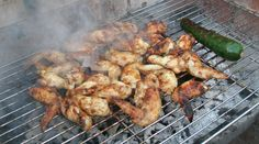 Chicken wings on the BBQ at Smokey Carter HQ