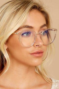 Quay Cryptic Blue Light Glasses - Clear Frame Glasses - Glasses - $60 – Red Dress