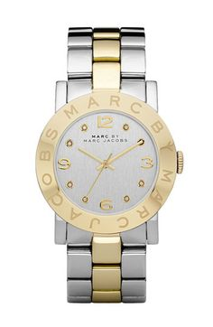 MARC BY MARC JACOBS 'Amy' Crystal Bracelet Watch...I think it's time to update my watch collection...