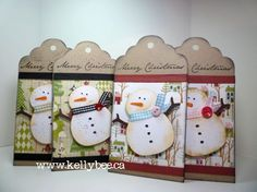 These are adoreable, and easy to make with digital scrapbooking supplies! Snowman Tags