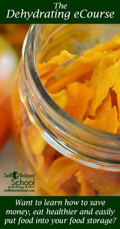 Classes in dehydrating, canning, food storage and more.