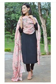 Shop salwar suits online for ladies from BIBA, W & more. Explore a range of anarkali, punjabi suits for party or for work. Punjabi Salwar Suits, Pakistani Dresses, Indian Dresses, Black Salwar Suit, Patiala Salwar, Indian Suits Punjabi, Pakistani Suits, Anarkali, Black Punjabi Suit