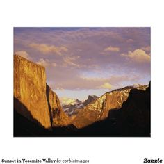Sunset in Yosemite Valley Poster