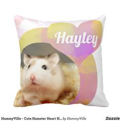 Shop HammyVille - Cute Hamster Heart Huggy Buggy Throw Pillow created by HammyVille. Cute Hamsters, Custom Pillows, Love Heart, Cool Gifts, Personalized Gifts, The Neighbourhood, Cute Animals, Throw Pillows, Make It Yourself