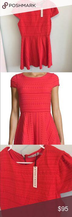 """NWT Alice + Olivia red Shane skater dress red 12 NWT Alice + Olivia """"Shane"""" red skater dress size 12 Alice & Olivia Dresses"""