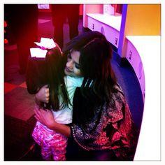 Selena Gomez meeting patients at Seacrest studios at Levine children's hospital.