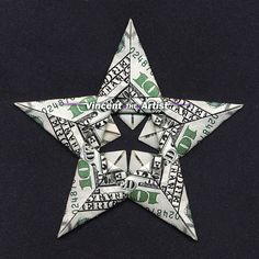 Beautiful Origami Modular Star - Made with 5 Hundred Dollar Bills