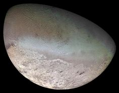 Triton, Neptune's largest moon, is the coldest place in our solar system. It has an average temperature of minus 315 F. Triton has a weird, backward orbit and has been inching closer to Neptune each year. When the two finally collide, in about 10 million to 100 million years, the moon will be shredded into rings perhaps as beautiful as those of Saturn.