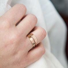Dainty Bar Ring #bridal-shower-gifts #Bride #bridesmaid-gifts