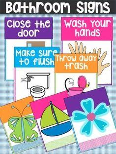 Bathroom Signs:  CUTE Signs for your BathroomEnjoy!!