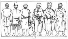 Русский костюм крестьян начала xix века