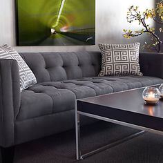 Great modern couch, in grey! :)  #zgallerie $999