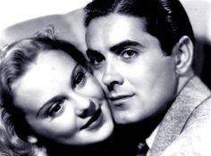 Sonja Henie & Tyrone Power, they were a gorgeous couple. Grandma had a picture of them on her wall.