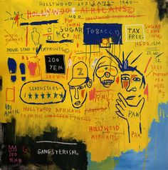 "Basquiat. ""Hollywood Africans."" 1983. Whitney Museum of American Art in New York City."