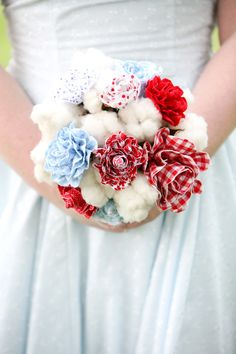 fabric flowers & cotton