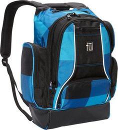 ful Rejig Backpack Blue Black Check Print - via eBags.com!