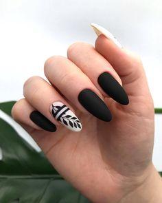 Natural Acrylic Black Almond & Square Nail Designs for Short Nails - . - Natural Acrylic Black Almond & Square Nail Designs for Short Nails – - Square Nail Designs, Black Nail Designs, Short Nail Designs, Nail Art Designs, Nails Design, Black Nail Art, Black Nails, Stylish Nails, Trendy Nails