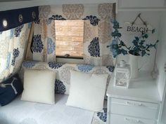 Example of caravan interior. I think I'd need a sewing machine!!