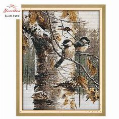 Home & Garden Clever Autumn Scenery Bird House Painting Dmc 14ct 11ct Counted Cross Stitch Kits Embroidery Set Needlework Set Chinese Cross Stitch Package