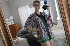 """tips and tricks"" to working with silky, slippery fabrics like silk, chiffon, peachskin, rayon challis- sewing, diy, kimono"