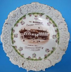 Silverdale Lancaster Antique Commemorative Plate Co operative Society Jubilee Lancaster, Decorative Plates, Ebay
