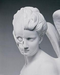 Damien Hirst. The Anatomy of an Angel (detail), 2008, carrara marble 1870 x 980 x 785 mm