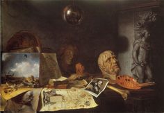 Simon Luttichuys, Corner of a Painter's Studio: Allegory of the Arts, 1646