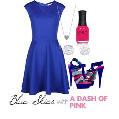"""""""Blue Skies with a Dash of Pink"""" by wildlydphotos on Polyvore"""