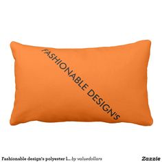 Fashionable design's polyester lumbar pillow.
