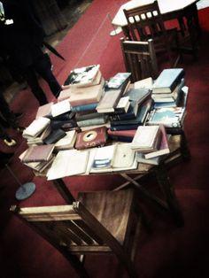 Wang Yuyang's breathing books at John Ryland's neo gothic library