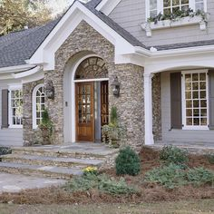 I like the stone accents around the front door