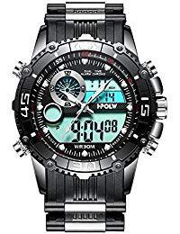 d48e2670657d Para hombre Big Face Digital analógico deportes relojes hombres impermeable  electrónico LED Militar reloj Digital con