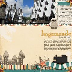 SS160: Hogsmeade (A Harry Potter Digital Scrapbook Page)