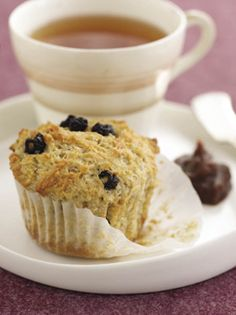 Lemony-Blueberry Bulgur Breakfast Muffins
