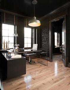 Modrest Alaska Black Oak Office Desk by VIG Furniture – Executive Home Office Design Dream House Interior, Dream Home Design, Modern House Design, Modern Office Design, Office Designs, Home Room Design, Grey Interior Doors, Office Interior Design, Modern Home Interior